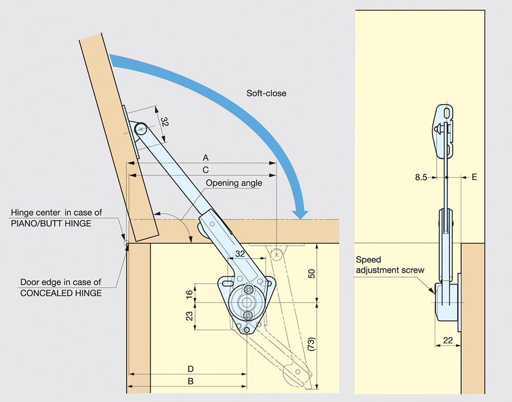 SUGASTUNE LID STAY WITH LOCK MECHANICALLY LOCKS WHEN FULLY OPENED 2 LENGTHS