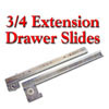 Drawer Slides, KV 3/4 Extension