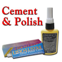 Cement (Lido Weld) and Polish (Lido Lustre)