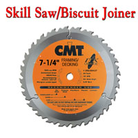 CMT Skill Saw and Biscuit Joiner Blades