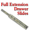 Drawer Slides, Full Extension Ball Bearing