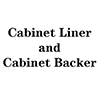 Cabinet Liner and Brown Backer