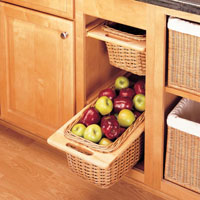 Rev-A-Shelf Rattan Wicker Baskets