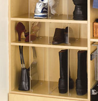 Rev-A-Shelf Shoe Rail & Acrylic Organizers