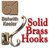 Belwith Coat Hooks, Solid Brass