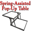 Spring-Assisted Pop-Up Table