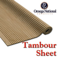 Tambour Sheet Material and Track