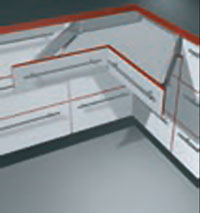 Space Corner, D Height, Metal Boxside
