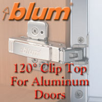 120° Clip Top for Aluminum Doors