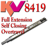 KV 8419 Full Extension Self Closing Overtravel