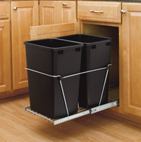 Rev-A-Shelf Pullout, Double Waste Containers