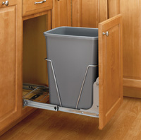 Rev-A-Shelf Pullout,Single Waste Containers