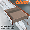 Blum TANDEM edge with BLUMOTION
