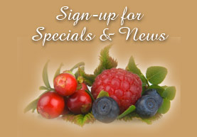 Sign Up for specials, newsletter, and wine recipes