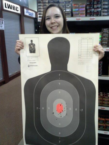 mills indoor shooting young female beginner target mn